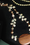 Pearl & wood necklace by Deanna  (NY)