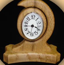 Handmade Wooden Clock by Joe Spaziano (RI)